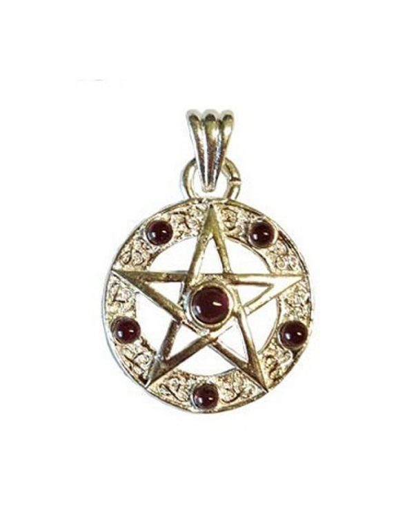 "1"" Pentagram-Garnet"