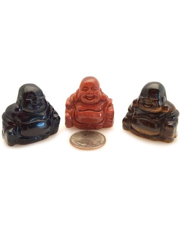 ASSORTED STONE BUDDHA FIGURINES FASB GBUDV