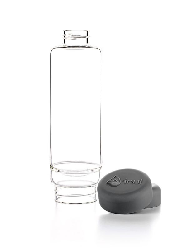inu crystal gem water bottle lava grey