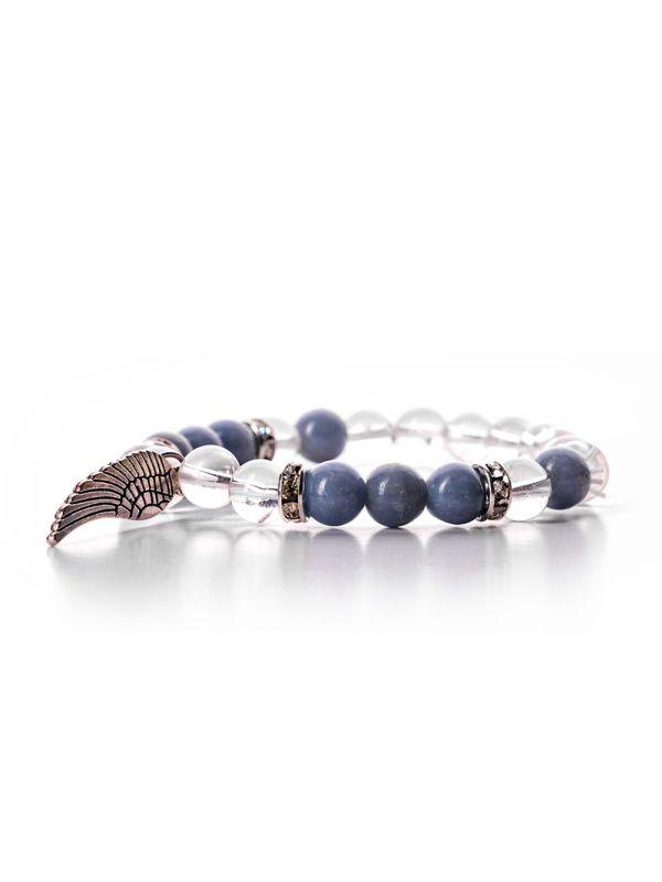 Angelite Clear Quartz Bracelet